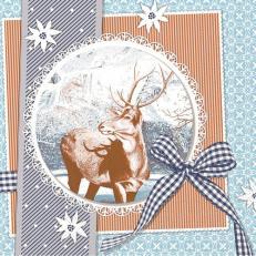 Tissue Serviette 33 x 33 cm; Typ: FINN blau; 800 Stück im Karton