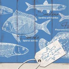 Tissue Serviette FISCH-ESSEN 40 x 40 cm