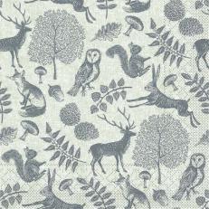 Tissue-Serviette FOREST OLIVGRÜN-GRAU 40 x 40 cm