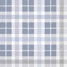 Tissue-Serviette FRED BLAU-DUNKELGRAU 33 x 33 cm
