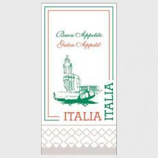 Servietten aus Tissuewatte 2-lagig ITALIA  40x40 cm 1/8 Falz