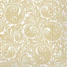 Tissue-Serviette JORDAN gold 33x33 cm; 800 Stück im Karton