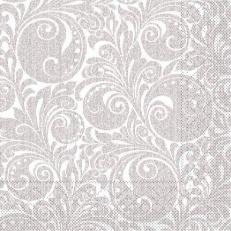 Tissue-Serviette JORDAN silber 33x33 cm; 800 Stück im Karton