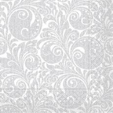 Tissue-Serviette JORDAN WEISS SILBER 40 x 40 cm