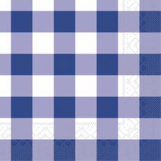 Tissue-Serviette KARO BLAU 25x25 cm; 1000 Stück im Karton
