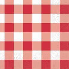 Tissue-Serviette KARO ROT 25x25 cm; 1000 Stück im Karton