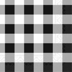 Tissue-Serviette KARO SCHWARZ 25x25 cm; 1000 Stück im Karton