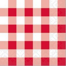 Tissue-Serviette KARO ROT 24 x 24 cm