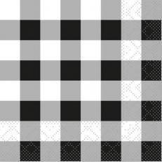 Tissue-Serviette KARO SCHWARZ 24 x 24 cm