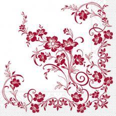 Tissue-Serviette KATJA BORDEAUX 40 x 40 cm