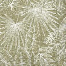 Tissue-Serviette KONA BRAUN 33 x 33 cm