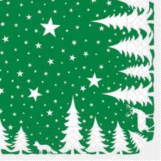 Tissue-Serviette LENNERT GRÜN 33 x 33 cm