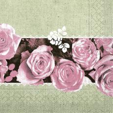 Tissue-Serviette LOVELY ROSES ROSA 40 x 40 cm