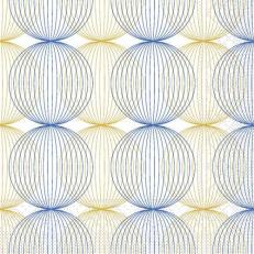 Tissue-Serviette LUDO BLAU-GOLD 24 x 24 cm