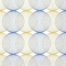 Tissue-Serviette LUDO BLAU-GOLD 40 x 40 cm