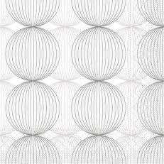 Tissue-Serviette LUDO GRAU 24 x 24 cm