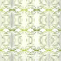 Tissue-Serviette LUDO LIME-OLIV 24 x 24 cm