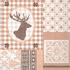 Tissue-Serviette LUKE BRAUN 33x33 cm; 800 Stück im Karton