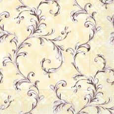 Tissue-Serviette MANOLA BEIGE-BRAUN 33x33 cm; 800 Stück im Karton