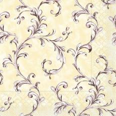 Tissue Serviette MANOLA BEIGE-BRAUN 40 x 40 cm; 1200 Stück im Karton