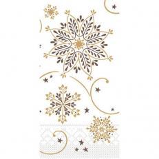 Tissue-Serviette CRISTAL BRAUN-GOLD 33x33 cm 1/8-Falz; 800 Stück im Karton
