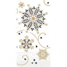 Tissue-Serviette CRISTAL SCHWARZ-GOLD 33x33 cm 1/8-Falz; 800 Stück im Karton