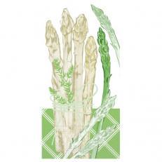 Tissue-Serviette SPARGEL 33 x 33 cm 1/8-Falz