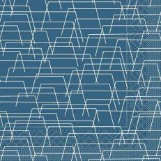 Tissue-Serviette TARIK BLAU 40 x 40 cm