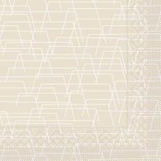 Tissue-Serviette TARIK HELLGRAU 33 x 33 cm