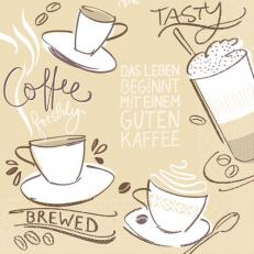 Tissue-Serviette TASTY COFFEE BRAUN 33 x 33 cm