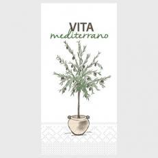 Tissue Serviette VITA MEDITERRANO 40 x 40 cm; 1500 Stück im Karton