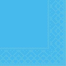 Tissue-Serviette AQUA-BLAU 20 x 20 cm