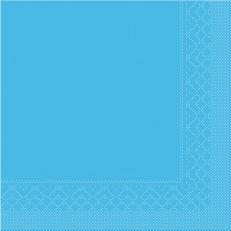 Tissue-Serviette AQUA-BLAU 40 x 40 cm