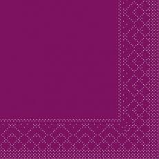 Tissue-Serviette AUBERGINE 24 x 24 cm