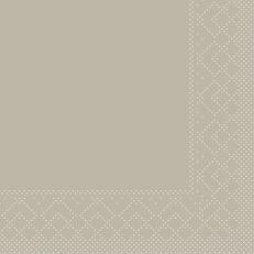Tissue-Serviette BEIGE-GREY 24 x 24 cm