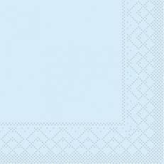 Tissue-Serviette HELLBLAU 24 x 24 cm