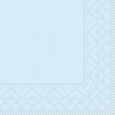 Tissue-Serviette HELLBLAU 20 x 20 cm