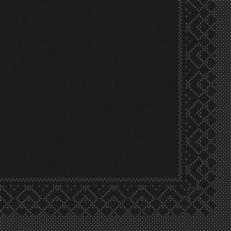 Tissue-Serviette SCHWARZ 40 x 40 cm