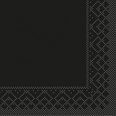 Tissue-Serviette SCHWARZ 24 x 24 cm