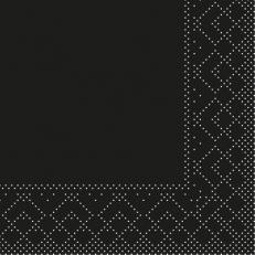 Tissue-Serviette SCHWARZ 20 x 20 cm