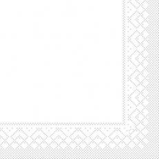 Tissue-Serviette WEISS 40 x 40 cm