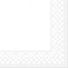 Tissue-Serviette WEISS 24 x 24 cm