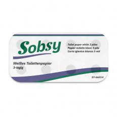 Toilettenpapier hochweiss 3-lagig, 250 Blatt/ Rolle