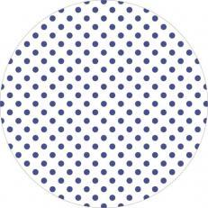 Untersetzer ANTONIA-PUNKTE BLAU 90 mm rund aus Tissue+PE, 1000 Stück im Karton