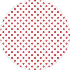 Untersetzer ANTONIA-PUNKTE ROT 90 mm rund aus Tissue+PE, 1000 Stück im Karton