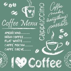 Untersetzer COFFEE TIME ANTHRAZIT 90 x 90 mm