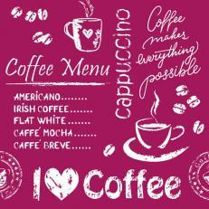 Untersetzer COFFEE TIME BORDEAUX 90 x 90 mm