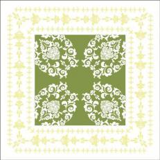 Untersetzer aus Tissue 9 x 9 cm eckig; Typ: PASCAL lindgrün; 1500 Stück im Karton