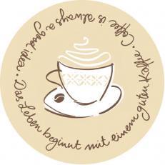 Untersetzer TASTY COFFEE BRAUN 90 mm rund