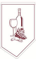 Weinmanschette; Farbe: BORDEAUX; 600 Stück im Karton